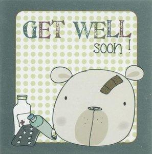 Nanou petite carte Get well soon !