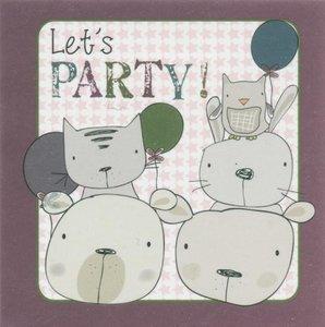 Nanou petite carte Let's party !