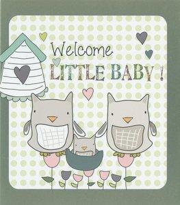 Nanou petite carte Welcome little baby !