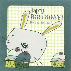 Nanou petite carte Happy birthday ! Have a nice day !